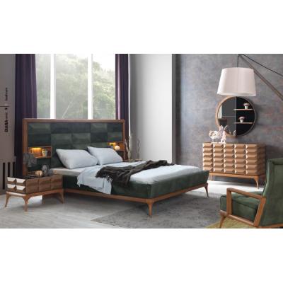 Diana Modern Walnut Bedroom Set